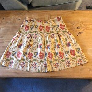 J. Jill Copper Sunset Ikat Silk Skirt NWT